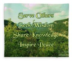 Inspire Peace Fleece Blanket