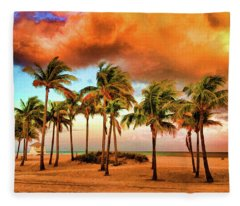 Crandon Park Beach Fleece Blanket