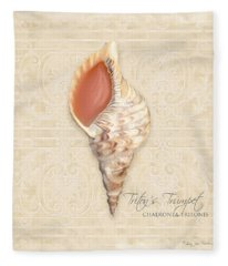 Inspired Coast 2 - Triton's Trumpet  Chaeronea Tritonis Shell Fleece Blanket