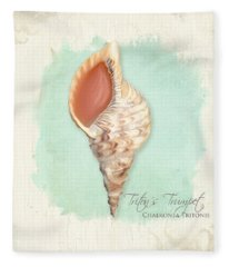 Inspired Coast Vi - Triton's Trumpet Shell On Board Fleece Blanket