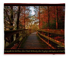 Inspires To Travel Fleece Blanket