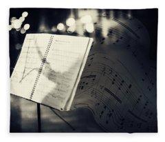 Inspiring Music Of The Night Streets Fleece Blanket
