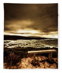Intense Coastline Drama Fleece Blanket