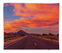Intense Evening Clouds In Arizona Fleece Blanket