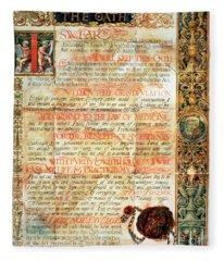 International Code Of Medical Ethics Fleece Blanket