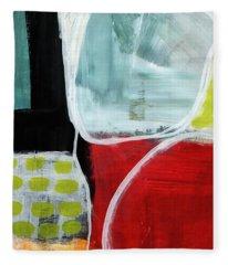 Intersection 37- Abstract Art Fleece Blanket