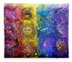 Interwoven Spectrum Of Emotions Fleece Blanket