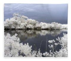 Intimate Lake In Infrared Fleece Blanket