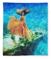 Into Deep Fleece Blanket