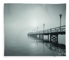 Into The Fog Fleece Blanket