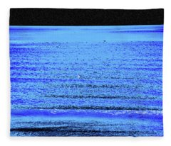 Into The Ocean Void Fleece Blanket