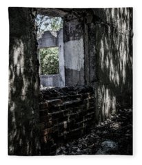 Into The Ruins 4 Fleece Blanket