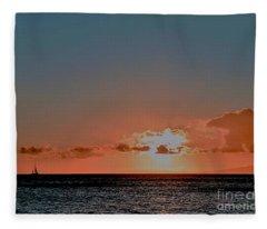 Into The Sunset Fleece Blanket