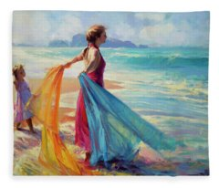 Into The Surf Fleece Blanket