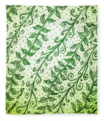 Into The Thick Of It, Green Fleece Blanket