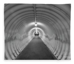 Into The Tunnel Fleece Blanket