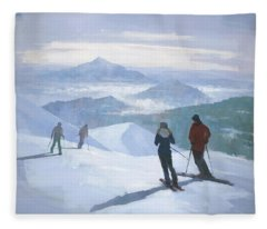 Into The Valley Fleece Blanket
