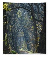 Into The Wood Fleece Blanket