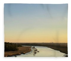 Intracoastal Waterway Fleece Blanket