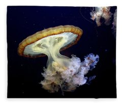 Invasion Of The Japanese Sea Nettles Fleece Blanket