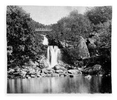 Inversnaid Falls From The Lock L Lomond Fleece Blanket