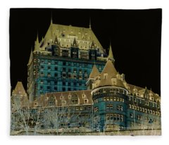 inverted Chateau Frontenac Fleece Blanket