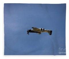 Inverted Mustang Fleece Blanket