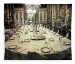 Invitation To Dinner At The Castle... Fleece Blanket