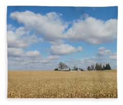 Iowa 3 Fleece Blanket
