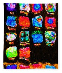 Iphone In Abstract Fleece Blanket