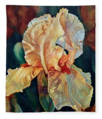 Iris 3_2017 Fleece Blanket