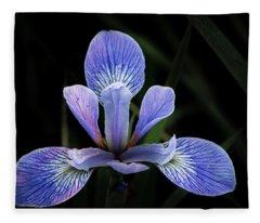 Iris #4 Fleece Blanket
