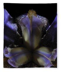 Iris Aglow Fleece Blanket
