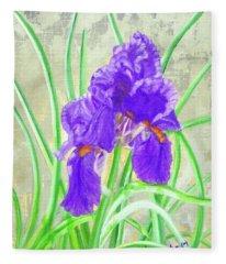 Iris Hope Fleece Blanket
