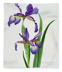 Iris Monspur Fleece Blanket
