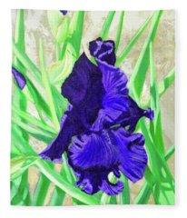 Iris Royalty Fleece Blanket