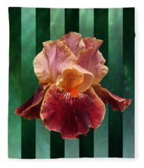 Iris Unleashed Fleece Blanket