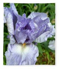 Iris Up Close Fleece Blanket