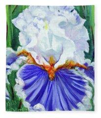 Iris Wisdom Fleece Blanket