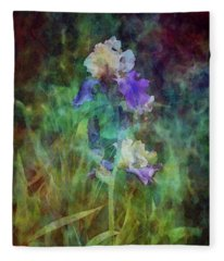 Irises 6618 Idp_3 Fleece Blanket