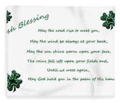 Irish Blessing 2 Fleece Blanket