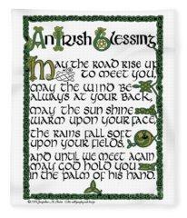 Irish Blessing Fleece Blanket
