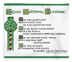 Irish Celtic Wedding Blessing Fleece Blanket