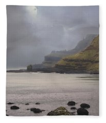 Irish Coastline Fleece Blanket