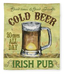 Irish Pub Fleece Blanket
