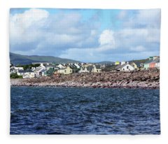 Irish Seaside Village - Co Kerry  Fleece Blanket