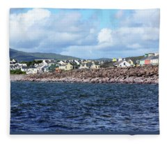 Irish Seaside Village - Co Kerry  Fleece Blanket