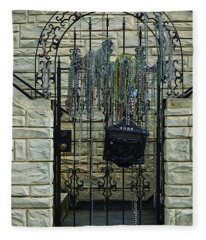 Iron Gate With Colorful Beads Fleece Blanket