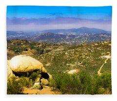 Iron Mountain View Fleece Blanket