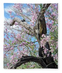 Ironwood In Bloom Fleece Blanket